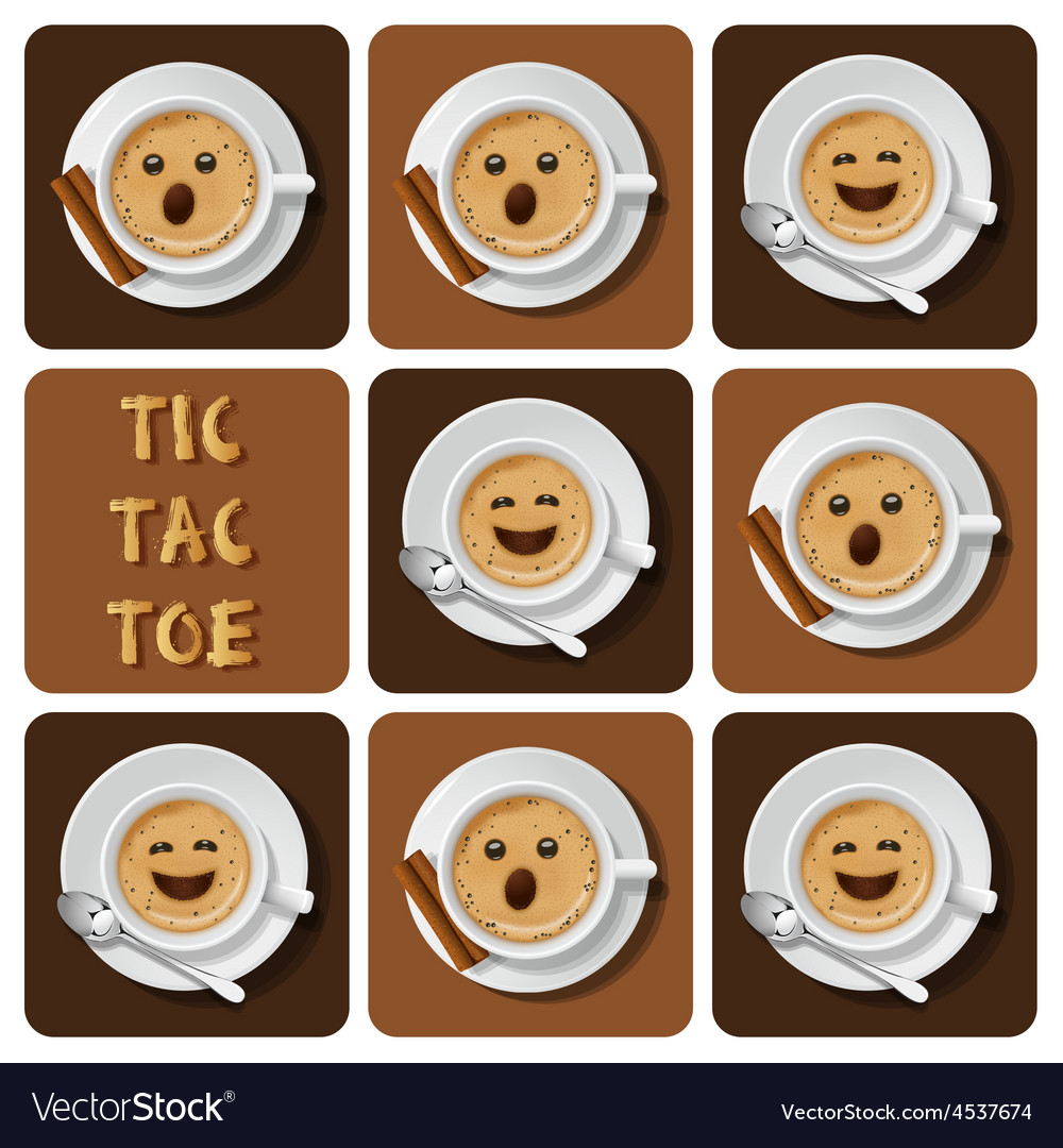 Tic-tac-toe of cappuccino vector | Price: 1 Credit (USD $1)