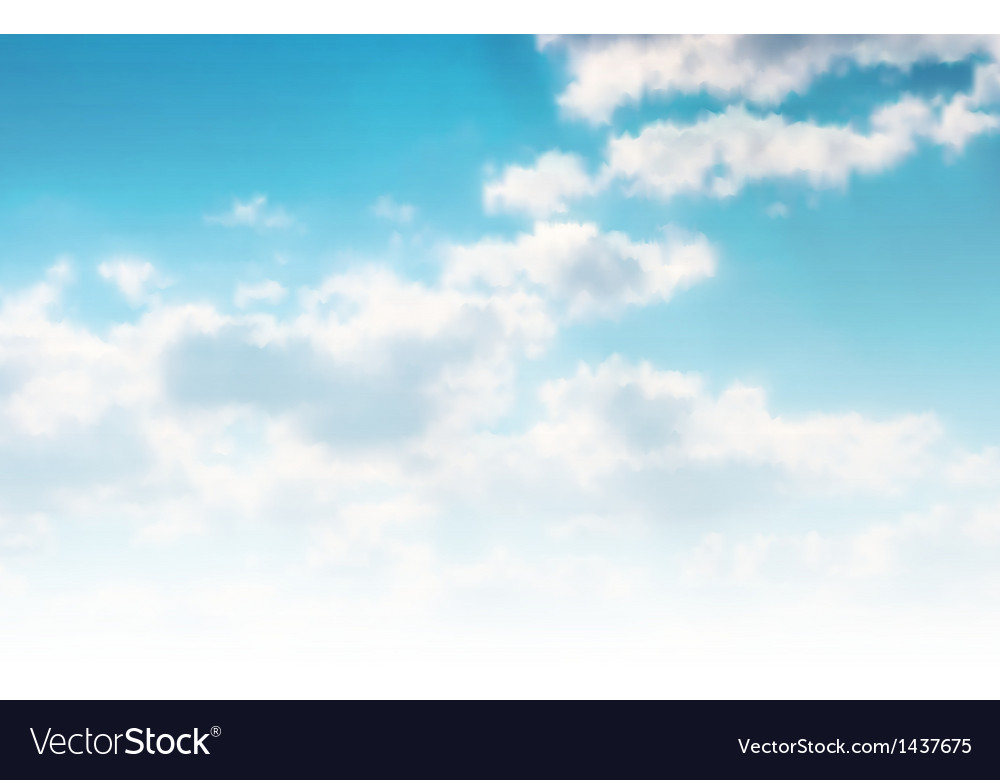 Beautiful cloudscape vector | Price: 1 Credit (USD $1)