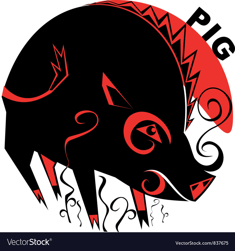 Chinese horoscope pig vector | Price: 1 Credit (USD $1)