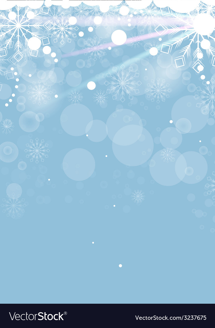 Christmas card with white snowflakes vector | Price: 1 Credit (USD $1)