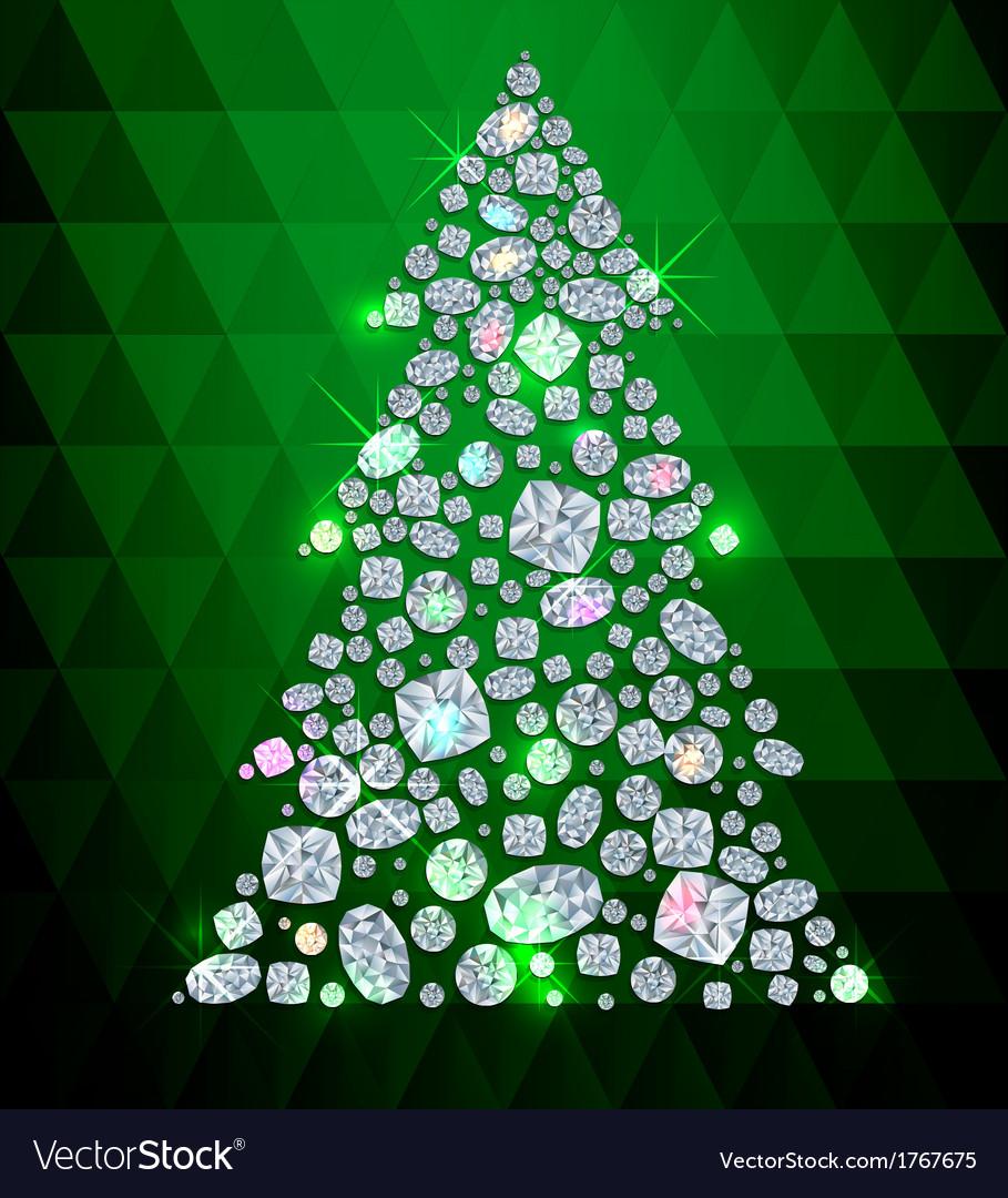 Diamond tree vector | Price: 1 Credit (USD $1)
