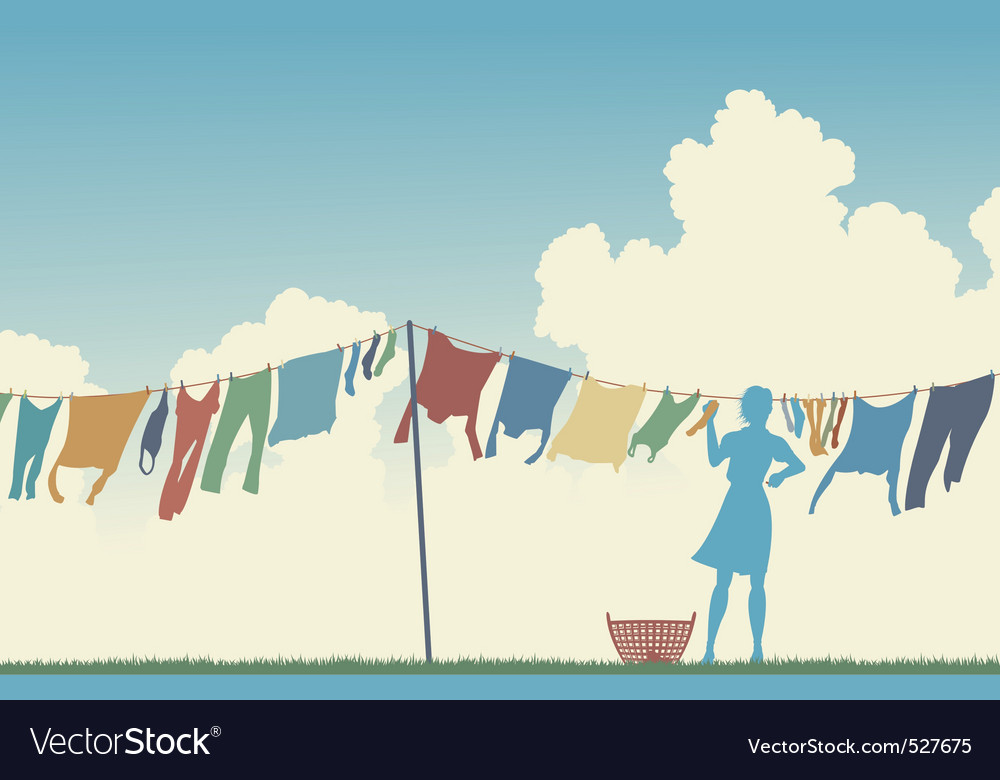 Laundry day vector | Price: 1 Credit (USD $1)