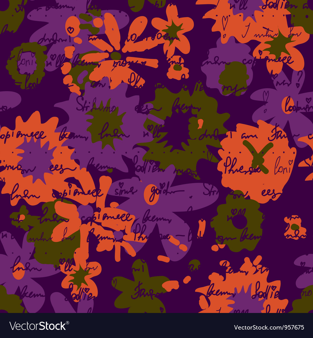 Messy floral background vector | Price: 1 Credit (USD $1)