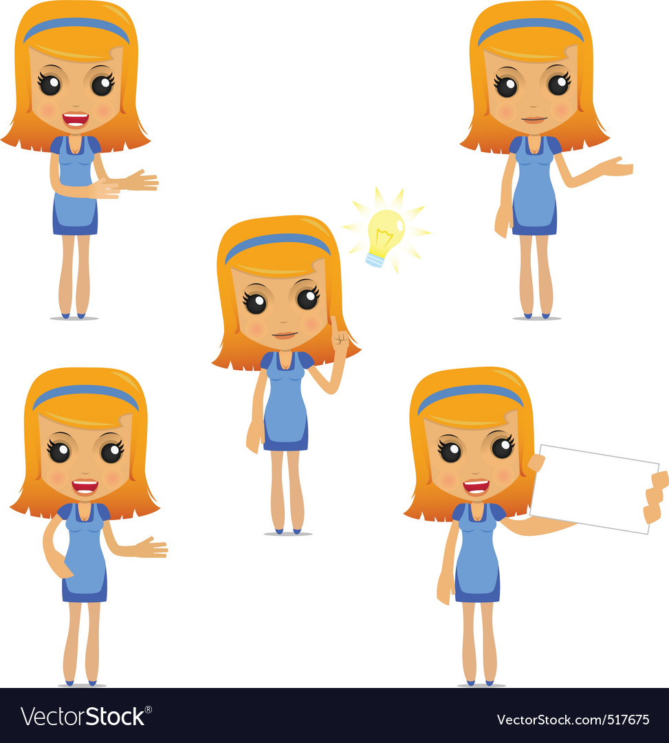 Set of funny cartoon housewife vector | Price: 1 Credit (USD $1)