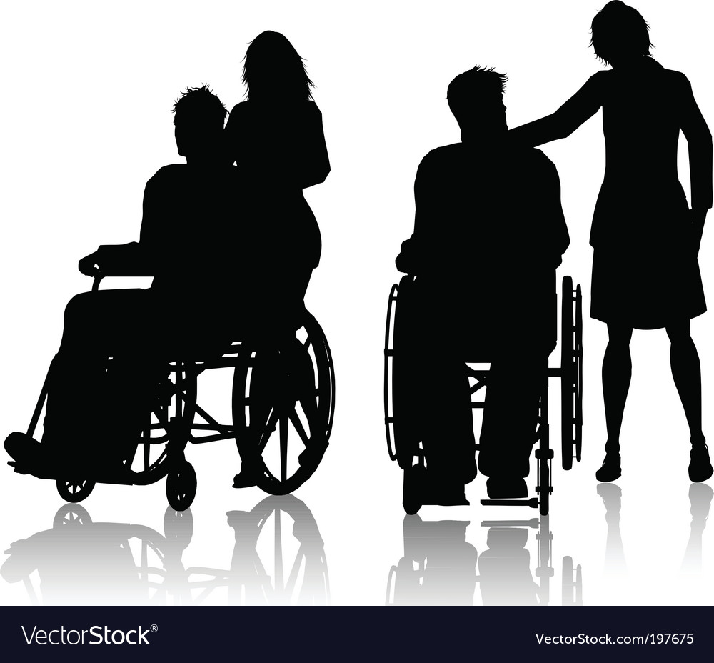 Wheelchair silhouette vector | Price: 1 Credit (USD $1)