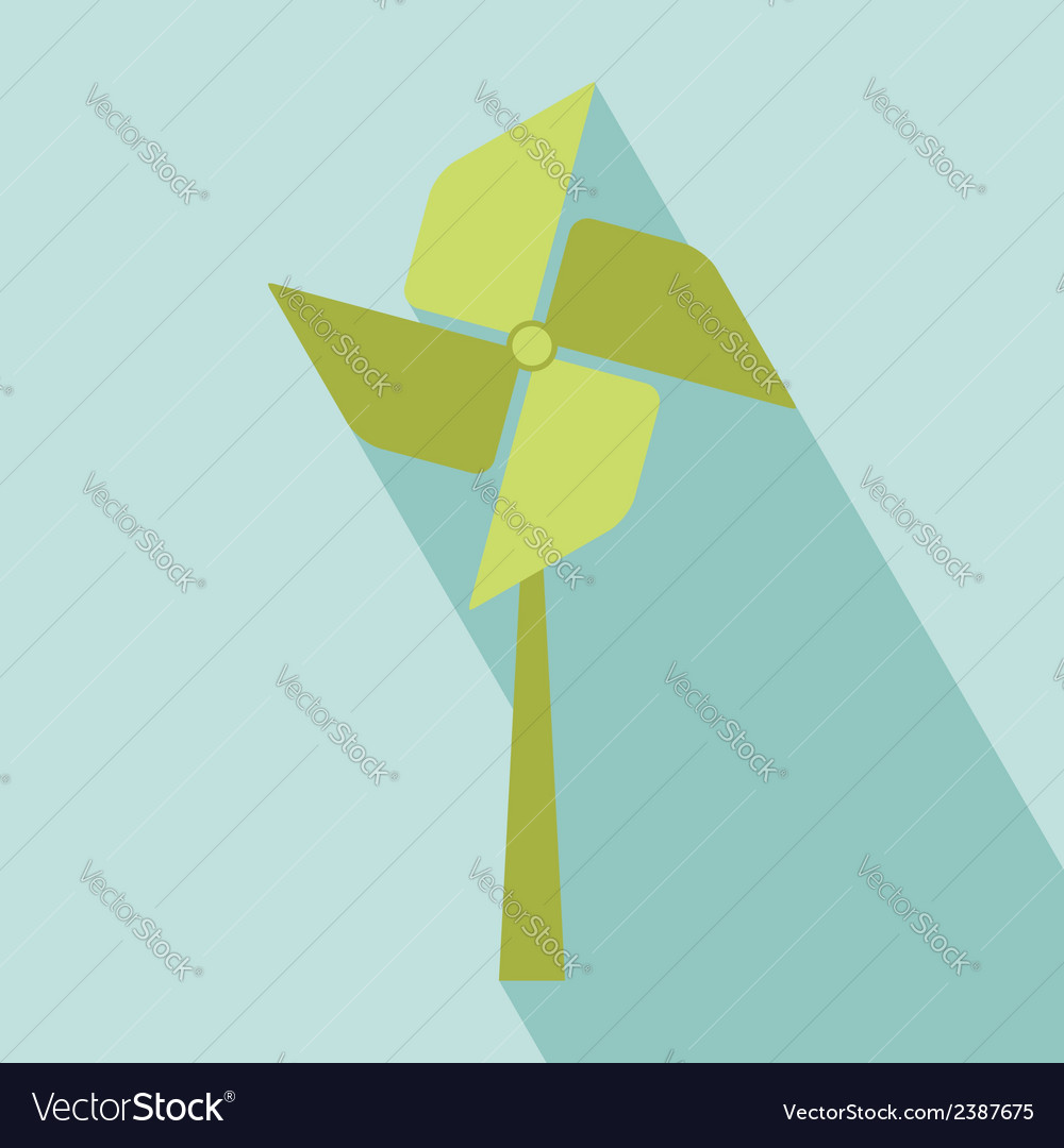 Wind turbine icon vector | Price: 1 Credit (USD $1)