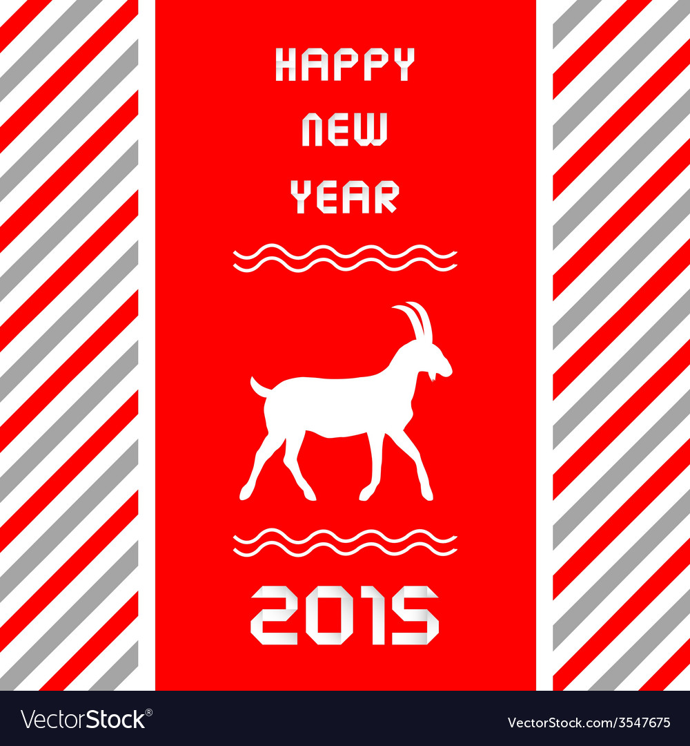 Year of the goat3 vector | Price: 1 Credit (USD $1)