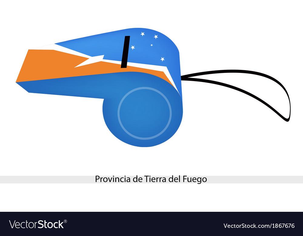 A whistle of provincia de tierra del fuego vector   Price: 1 Credit (USD $1)