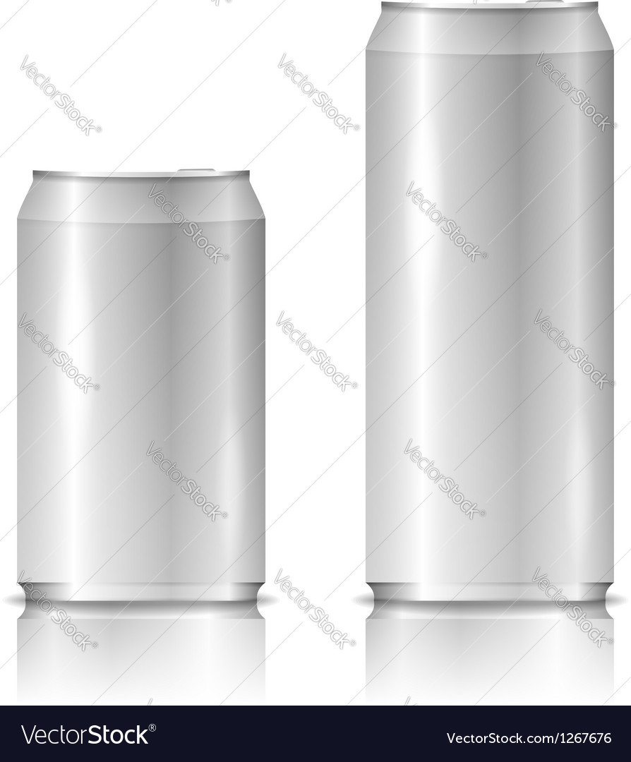 Aluminum cans vector | Price: 1 Credit (USD $1)