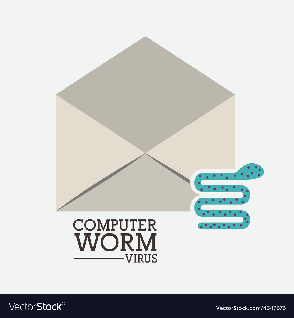 Computer worm design vector | Price: 1 Credit (USD $1)