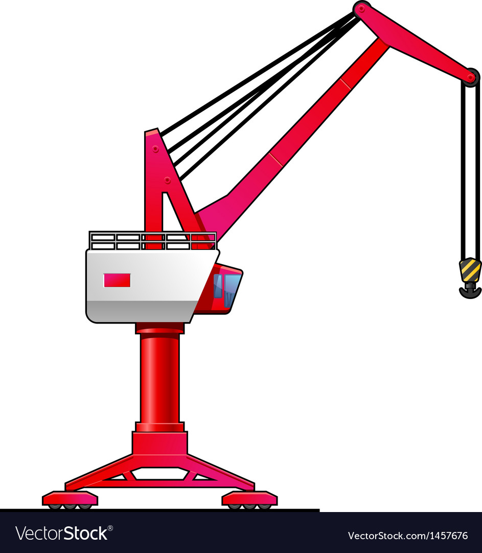 Gantry crane vector | Price: 1 Credit (USD $1)