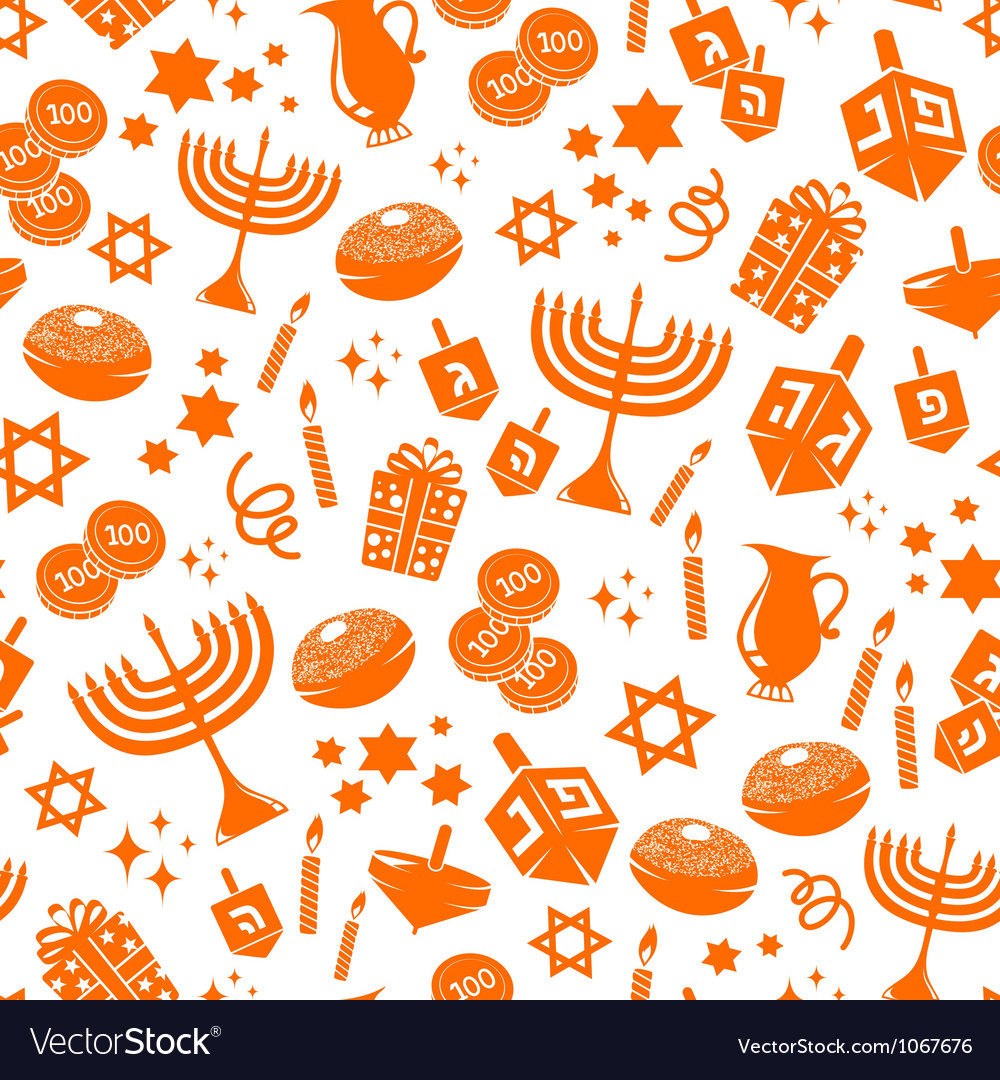 Hanukkah pattern vector | Price: 1 Credit (USD $1)