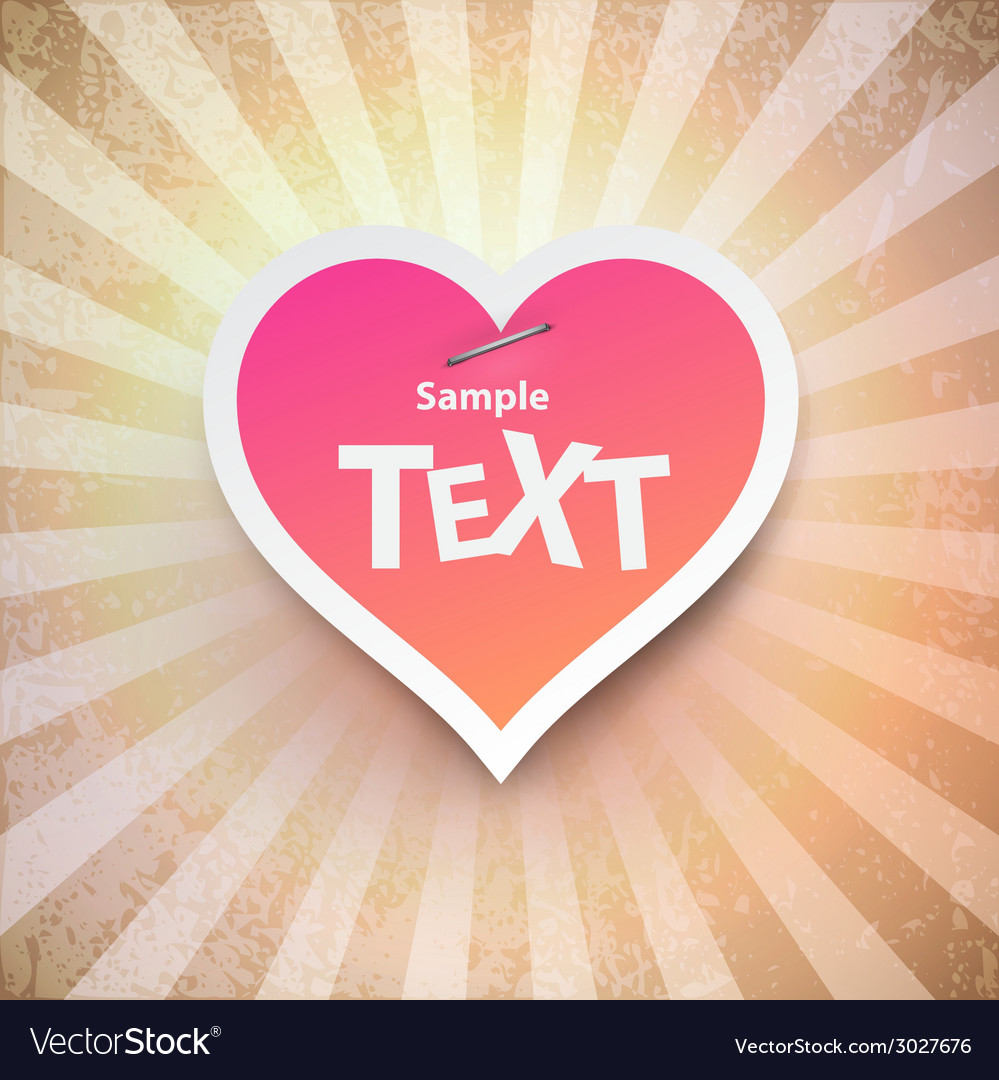Heart to the valentines day vector | Price: 1 Credit (USD $1)