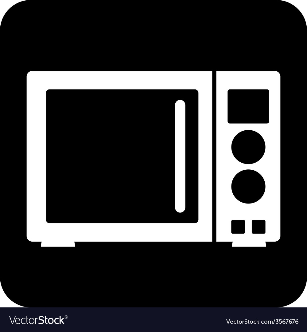 Microwave button vector | Price: 1 Credit (USD $1)