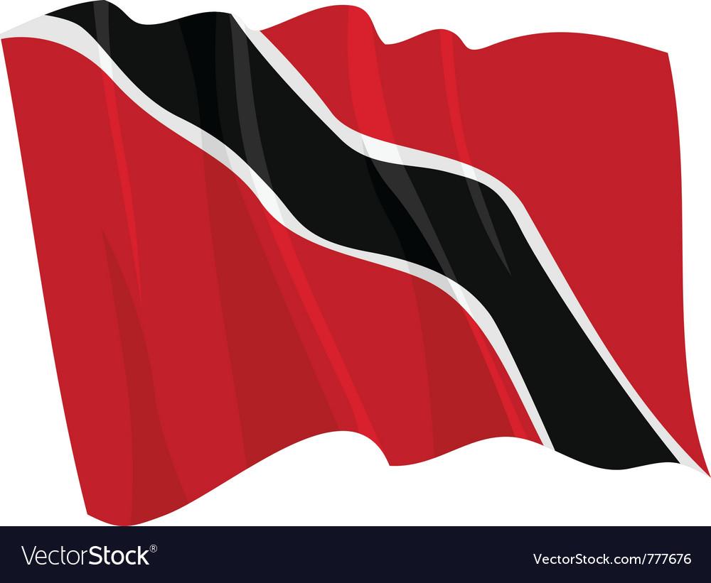 Political waving flag of trinidad vector | Price: 1 Credit (USD $1)