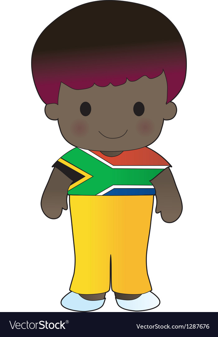 Poppy south africa boy vector | Price: 1 Credit (USD $1)