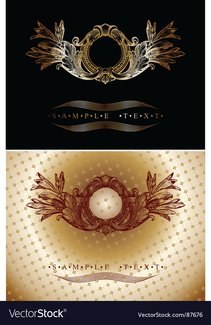Red and gold ornate banner vector | Price: 1 Credit (USD $1)