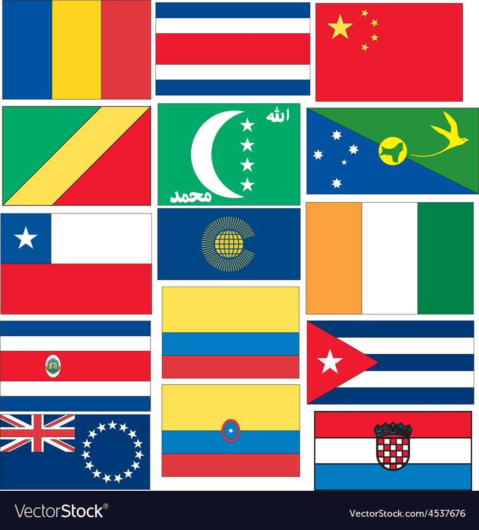 Set-of-flags-c vector | Price: 1 Credit (USD $1)