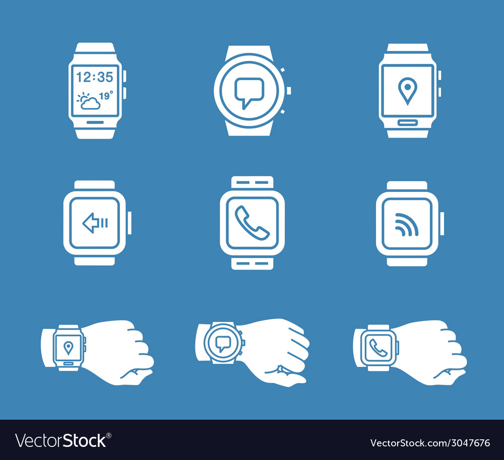 Smartwatch icons vector | Price: 1 Credit (USD $1)
