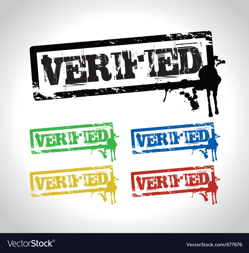 Verified sign stamp vector | Price: 1 Credit (USD $1)