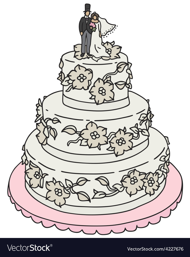 Wedding cake vector | Price: 1 Credit (USD $1)