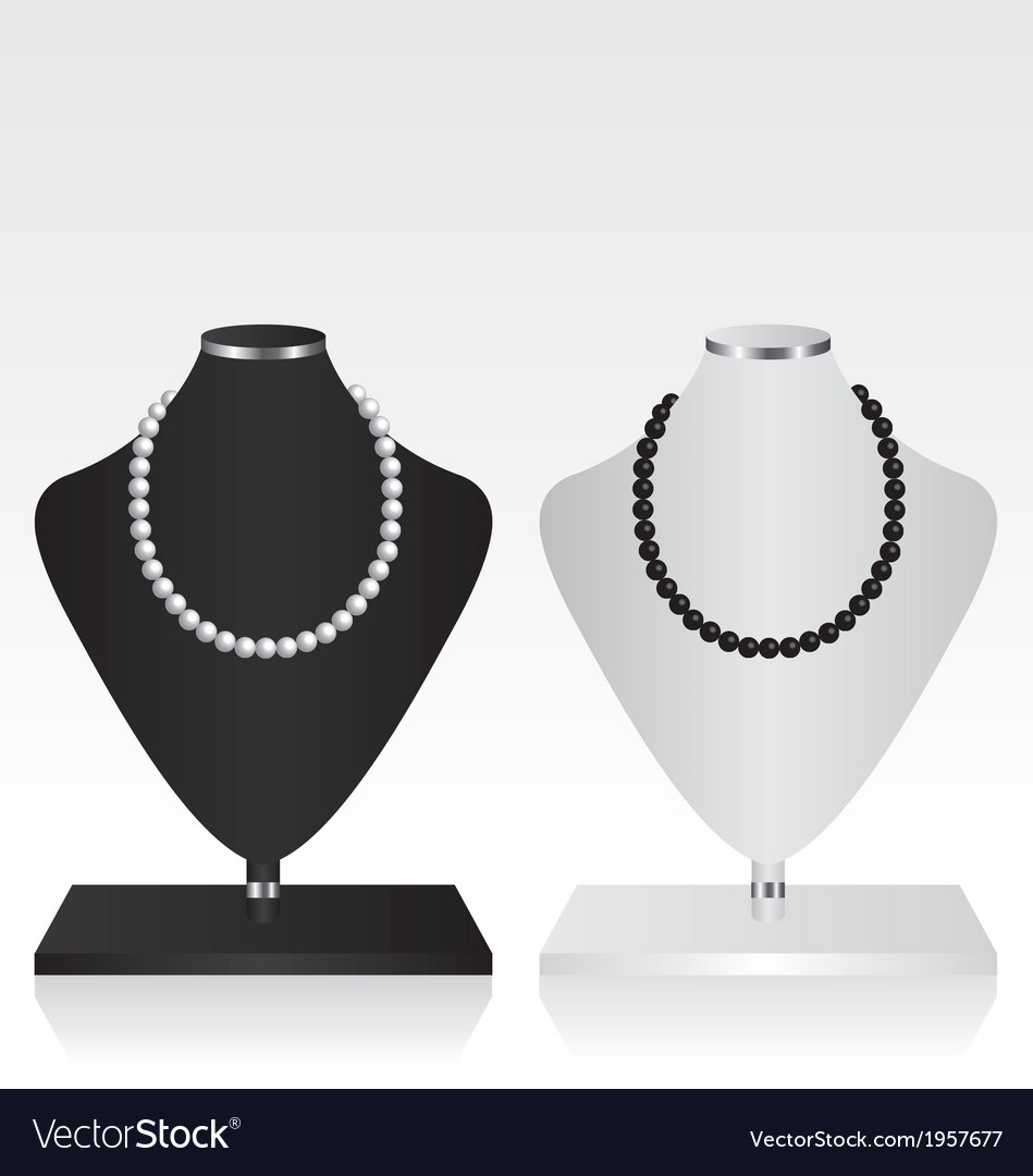 Black and white mannequin jewelry stand vector | Price: 1 Credit (USD $1)