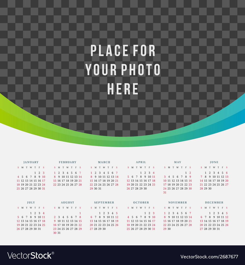 Calendar 2015 design template vector | Price: 1 Credit (USD $1)
