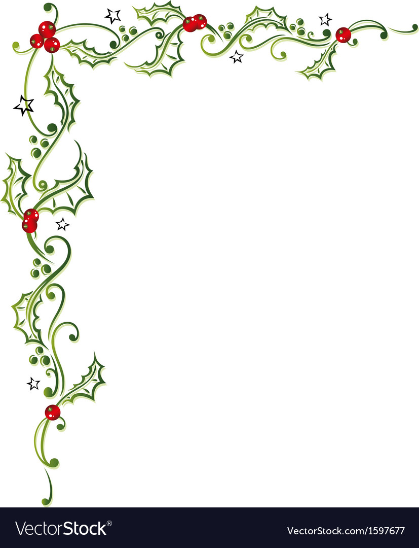 Christmas holly tendril vector | Price: 1 Credit (USD $1)