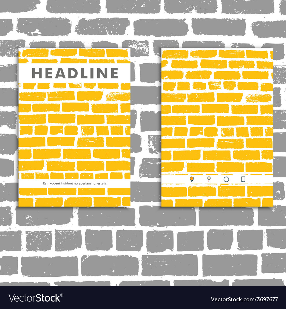 Cover book with background color brickwork vector | Price: 1 Credit (USD $1)