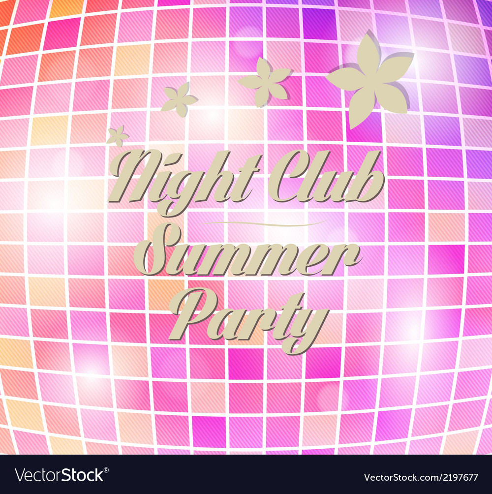 Disco party flyer vector | Price: 1 Credit (USD $1)
