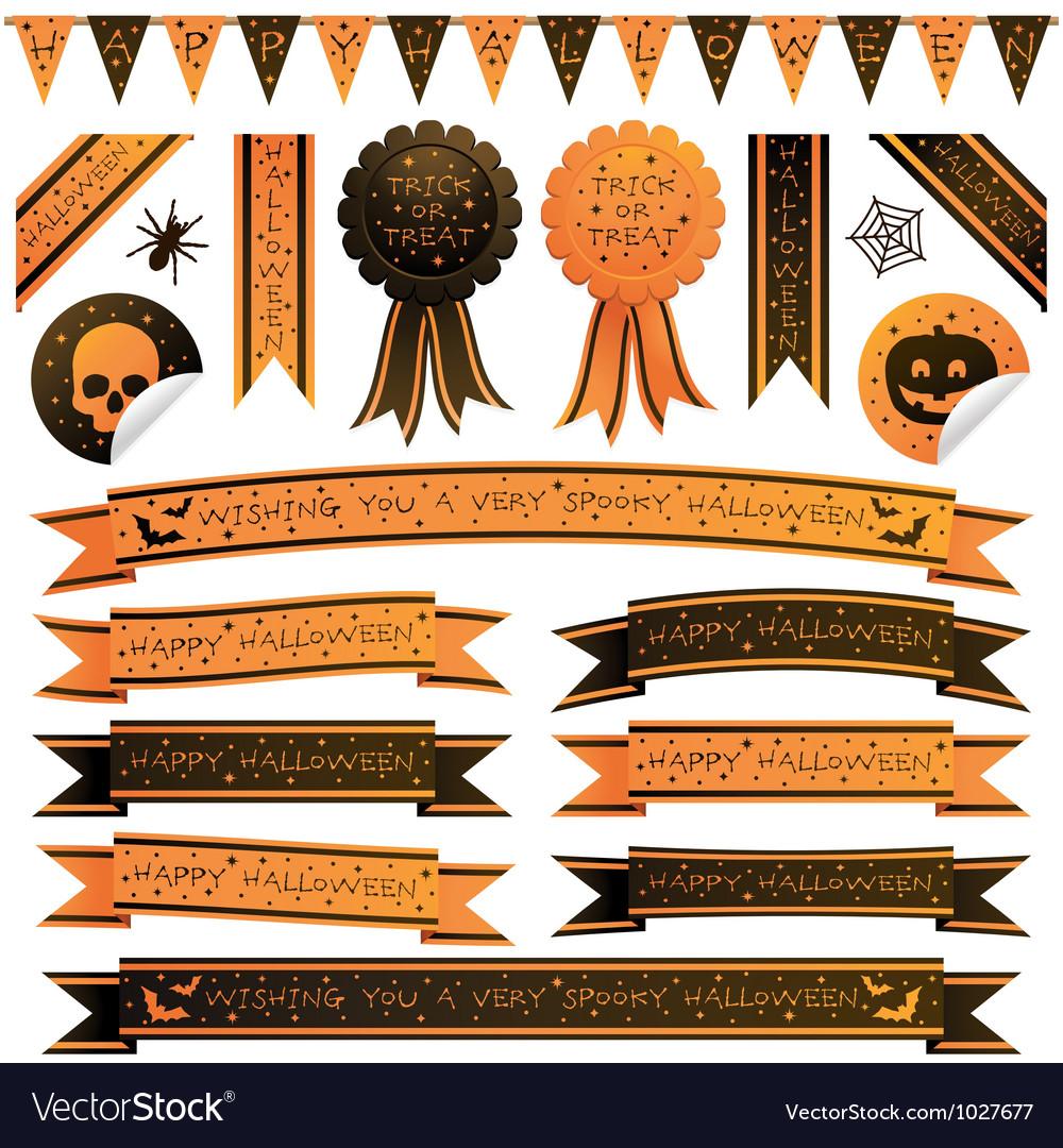 Halloween ribbons vector | Price: 1 Credit (USD $1)