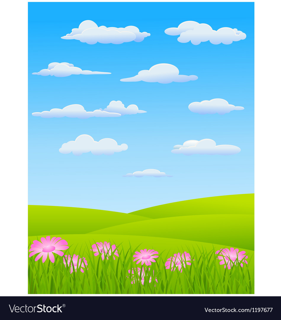 Nature landscape background vector | Price: 1 Credit (USD $1)