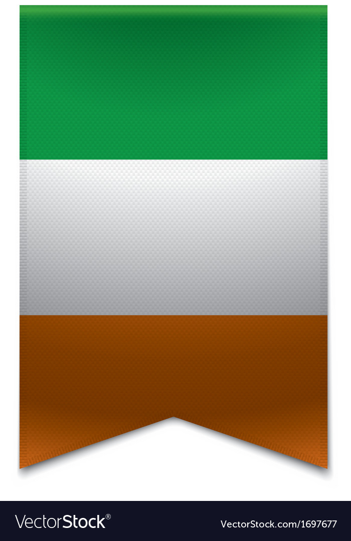 Ribbon banner - irish flag vector | Price: 1 Credit (USD $1)