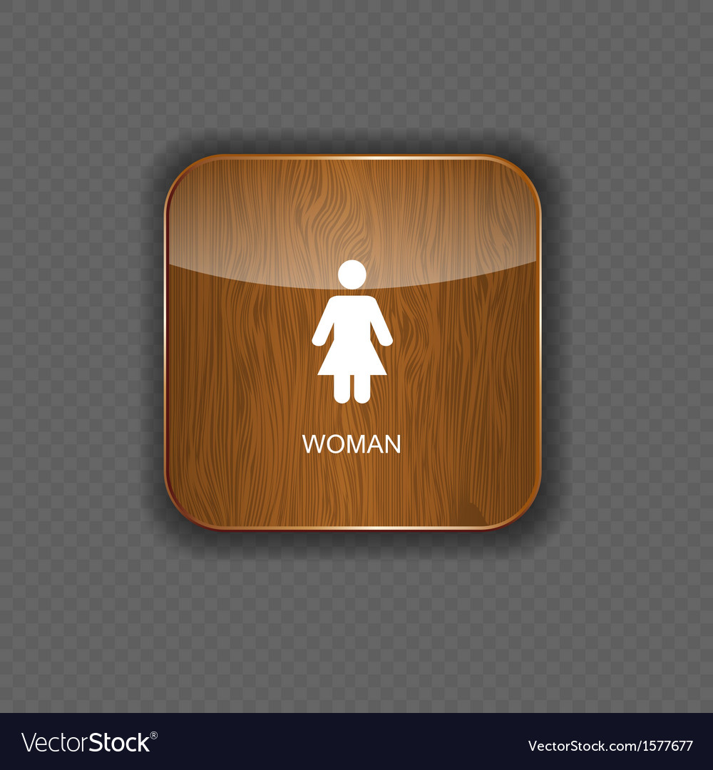 Woman wood application icons vector | Price: 1 Credit (USD $1)