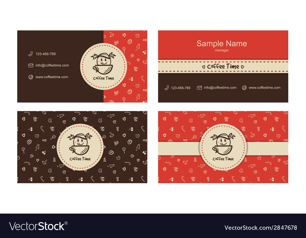 Bakery business cards template with logo vector | Price: 1 Credit (USD $1)