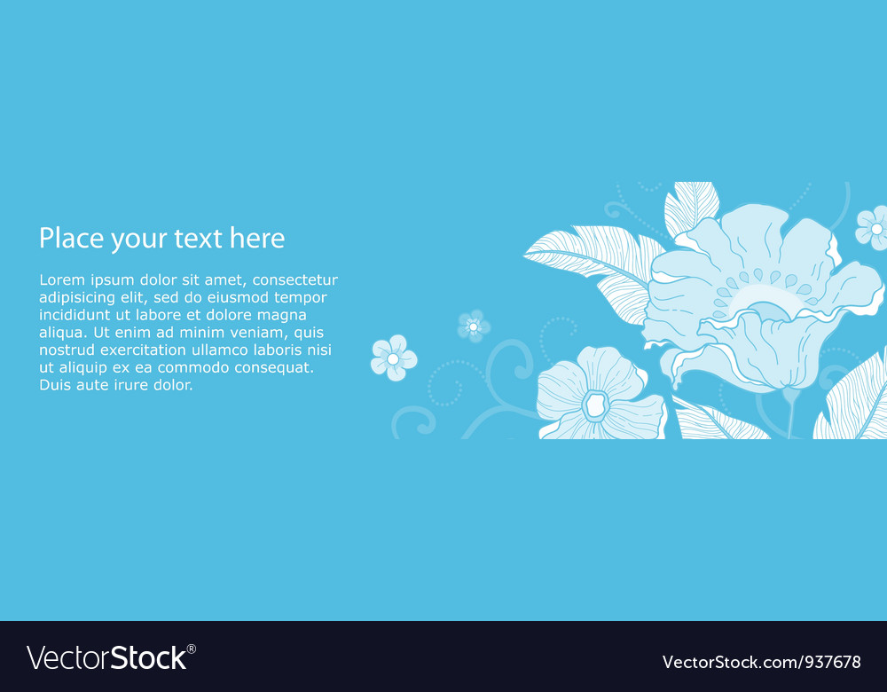 Banner flowers monochromatic vector | Price: 1 Credit (USD $1)