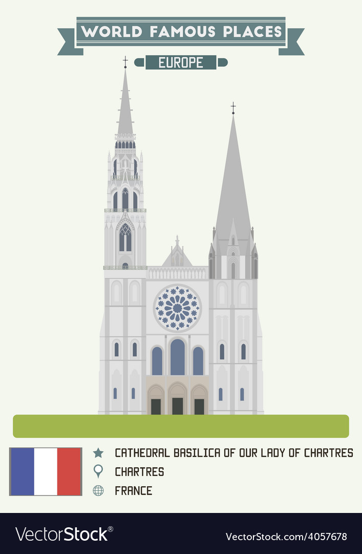 Cathedral chartres vector | Price: 1 Credit (USD $1)