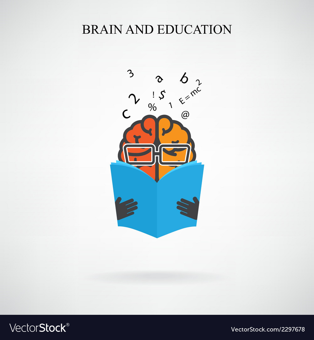 Creative brain sign vector | Price: 1 Credit (USD $1)