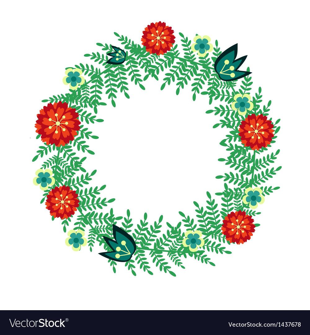Floral wreath vector   Price: 1 Credit (USD $1)