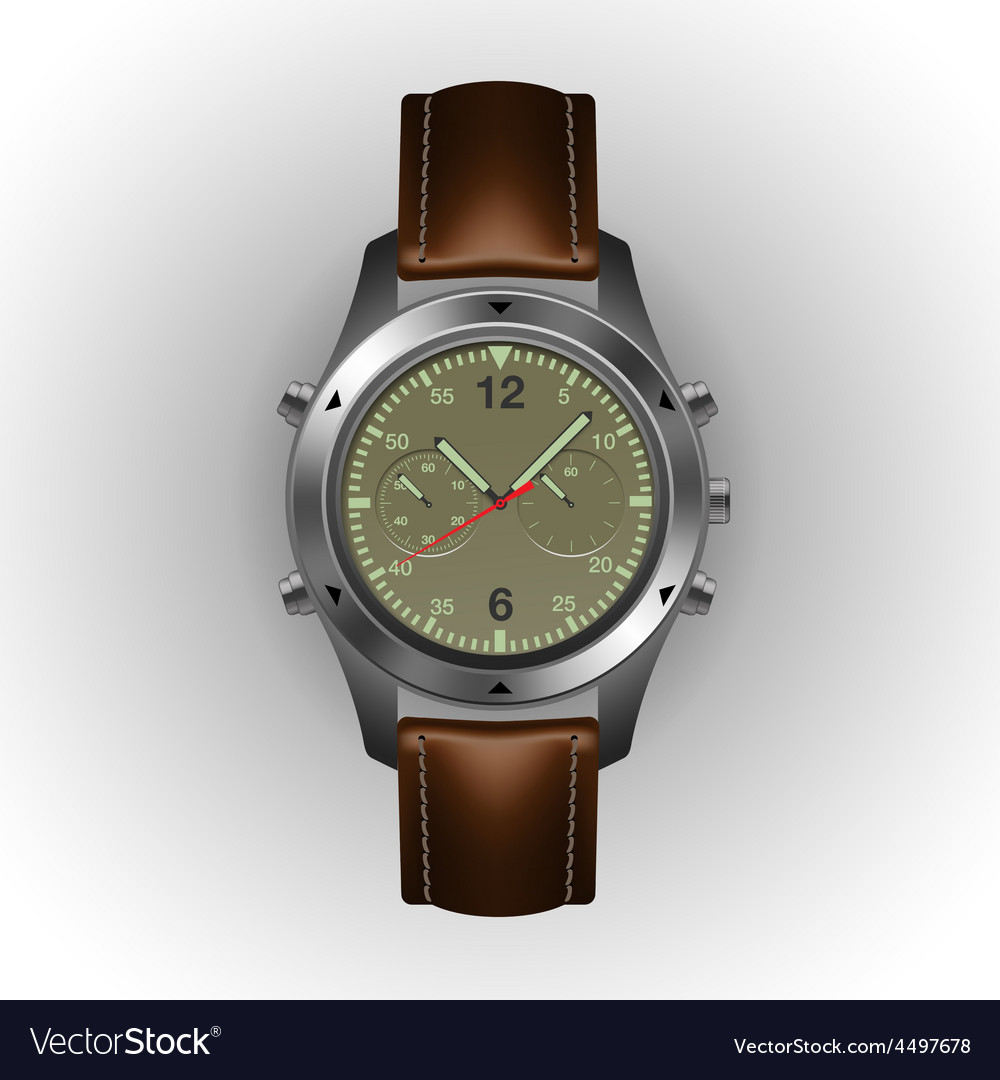 Military watch isolated on a white background vector | Price: 3 Credit (USD $3)