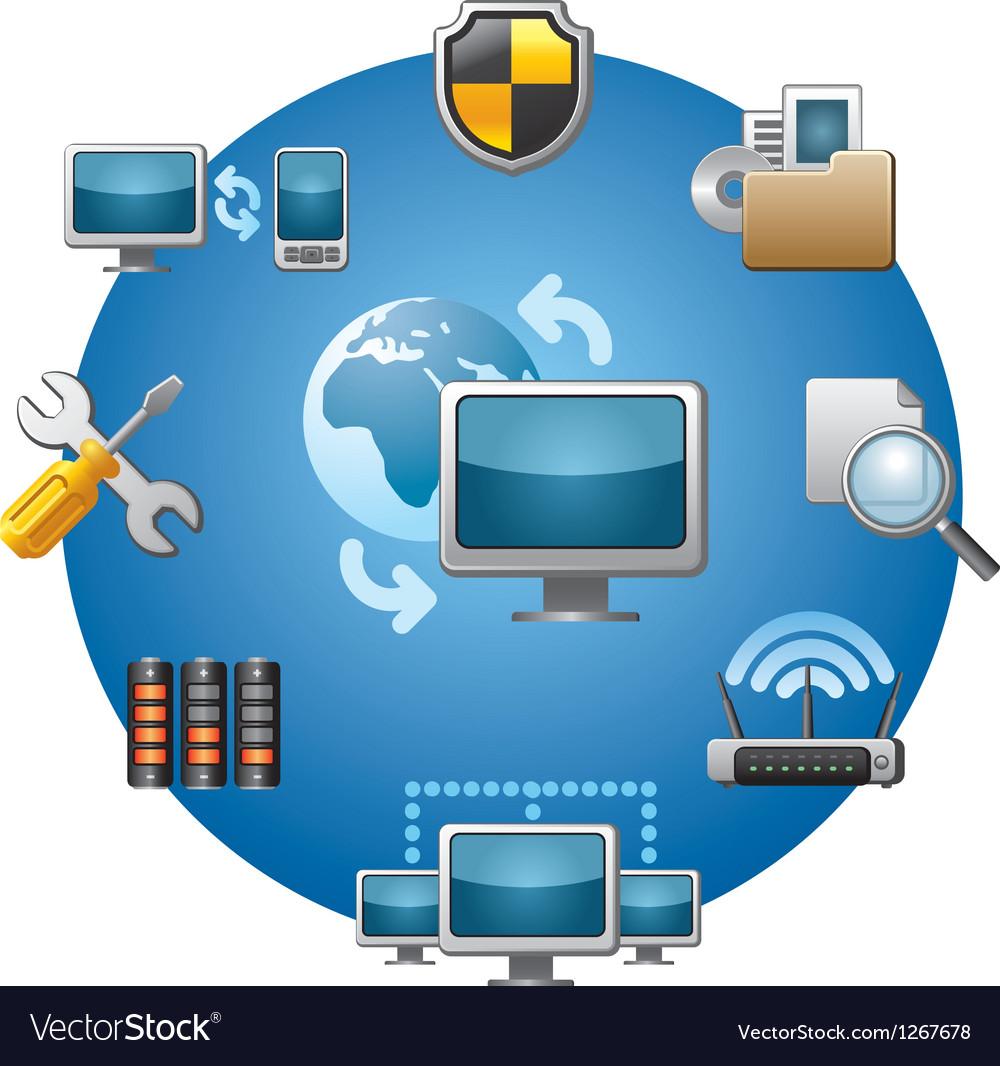 Network icon vector | Price: 3 Credit (USD $3)