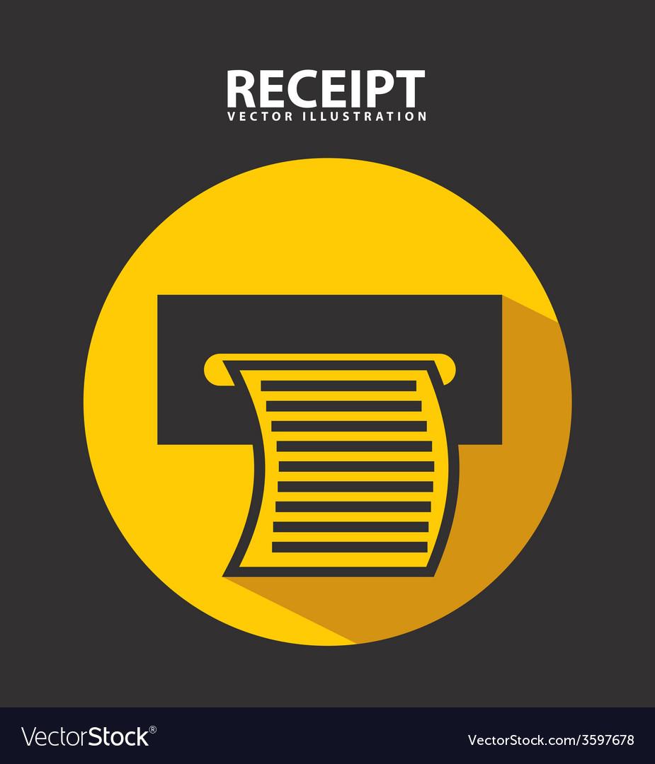 Receipt print vector | Price: 1 Credit (USD $1)