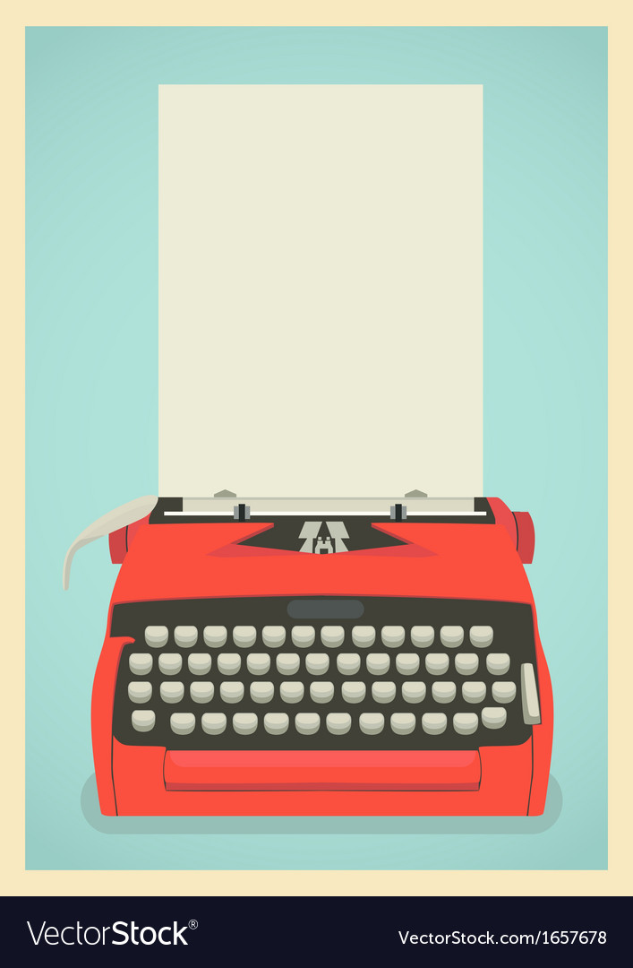 Retro typewriter background vector | Price: 1 Credit (USD $1)