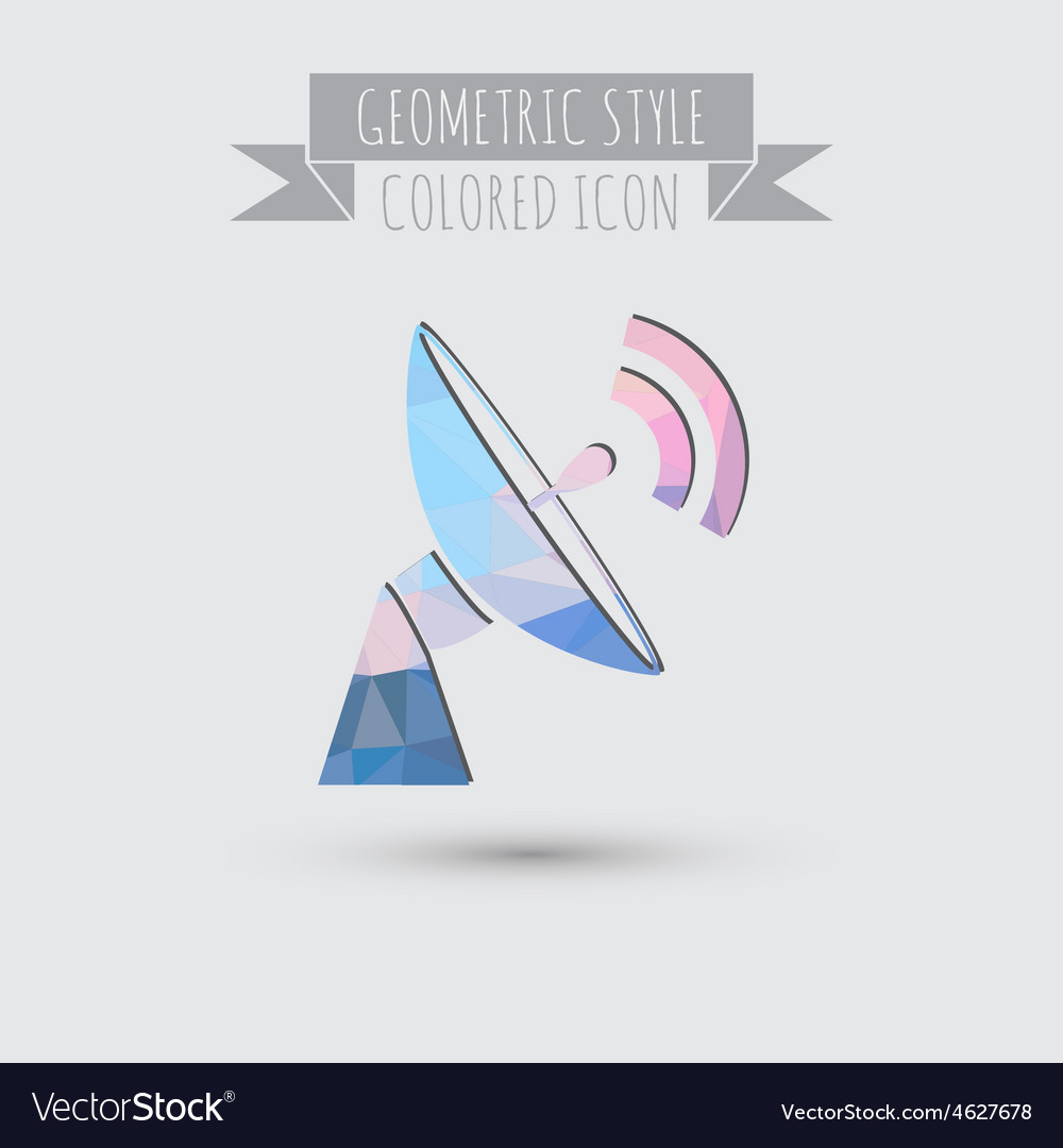 Satellite dish icon radar sign antenna symbol vector | Price: 1 Credit (USD $1)