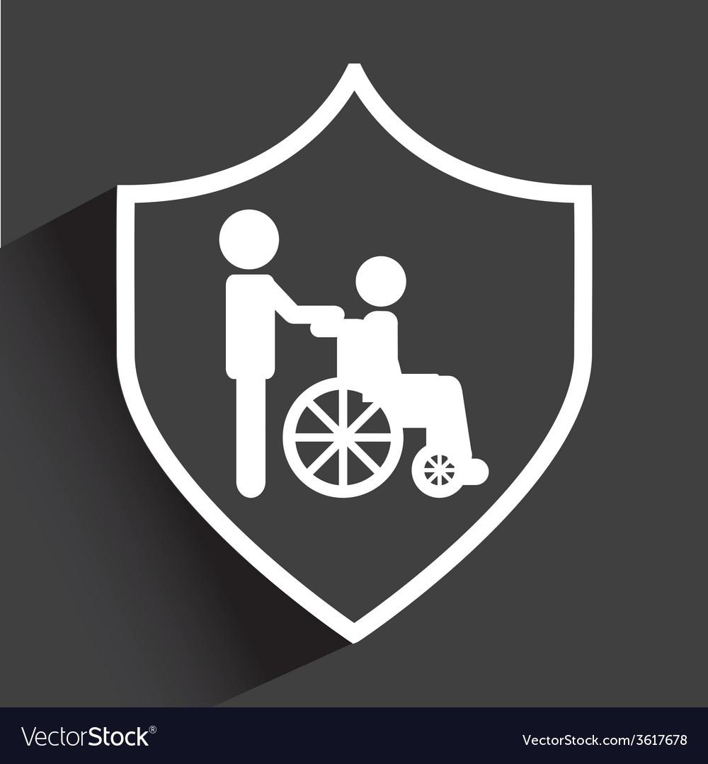 Shield medical vector | Price: 1 Credit (USD $1)