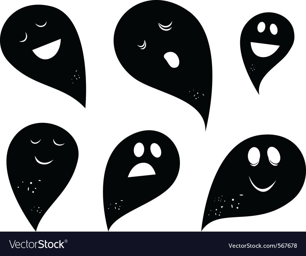 Simple ghosts vector | Price: 1 Credit (USD $1)