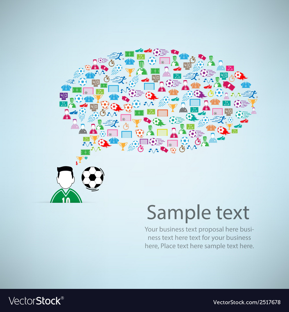 Template design player idea with soccer icon vector | Price: 1 Credit (USD $1)