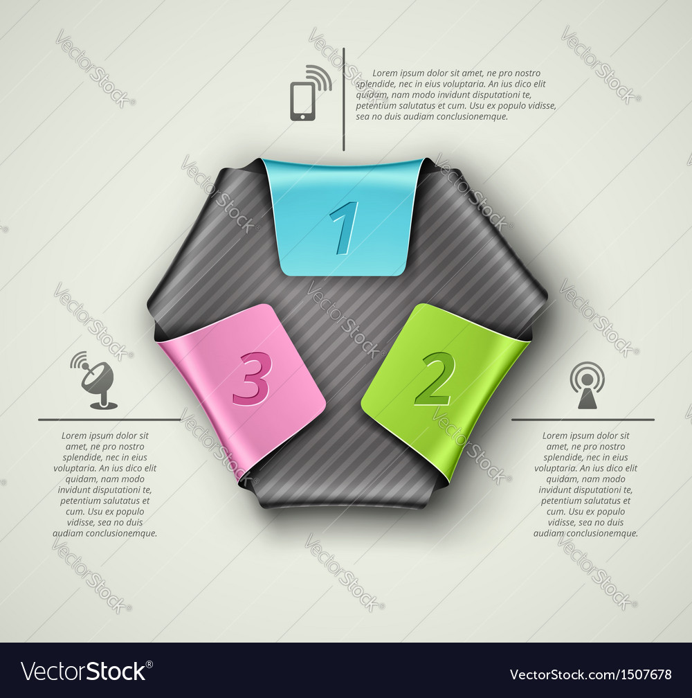 Three steps vector | Price: 1 Credit (USD $1)