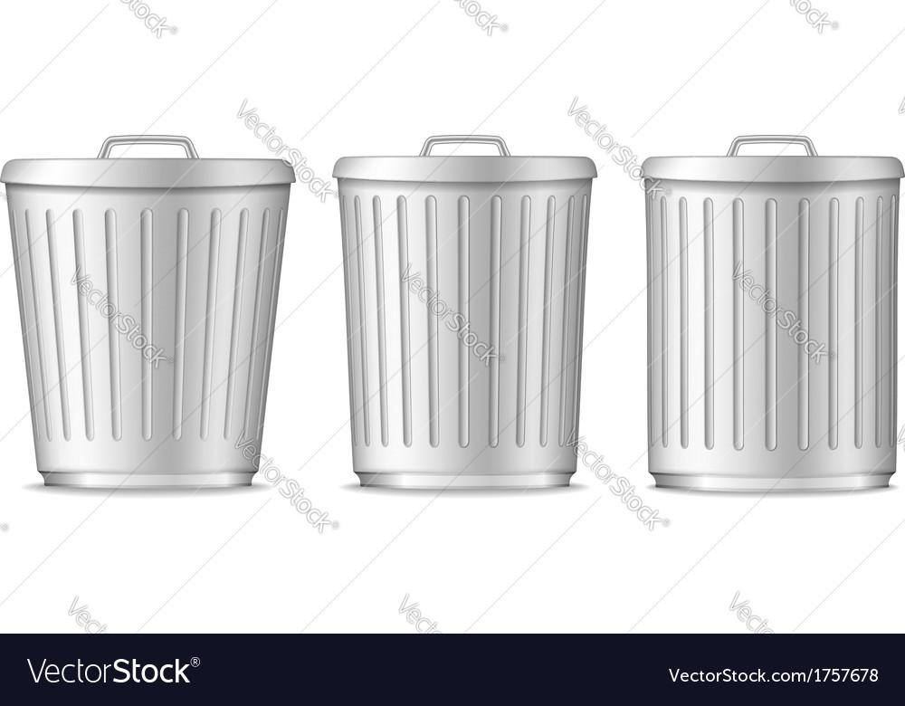 Trash cans vector | Price: 1 Credit (USD $1)