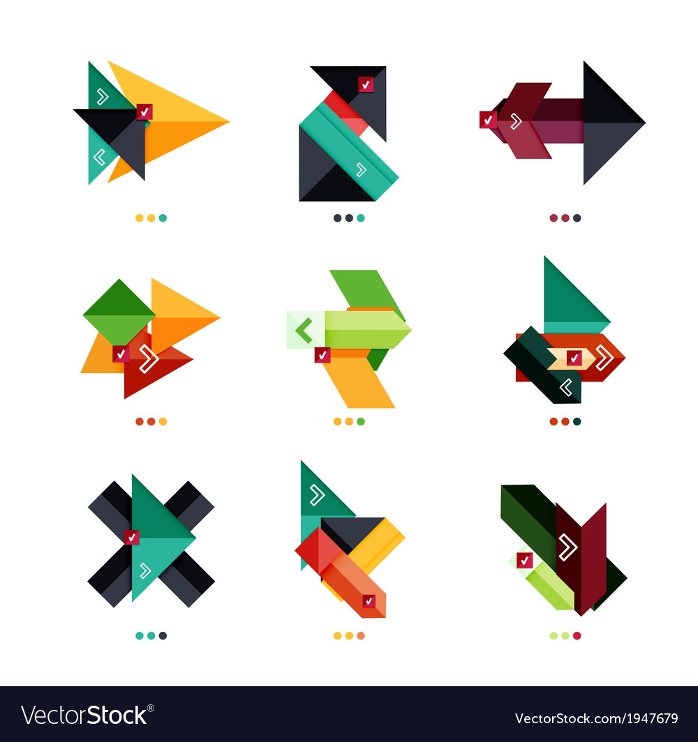 Arrow business geometric stickers vector   Price: 1 Credit (USD $1)